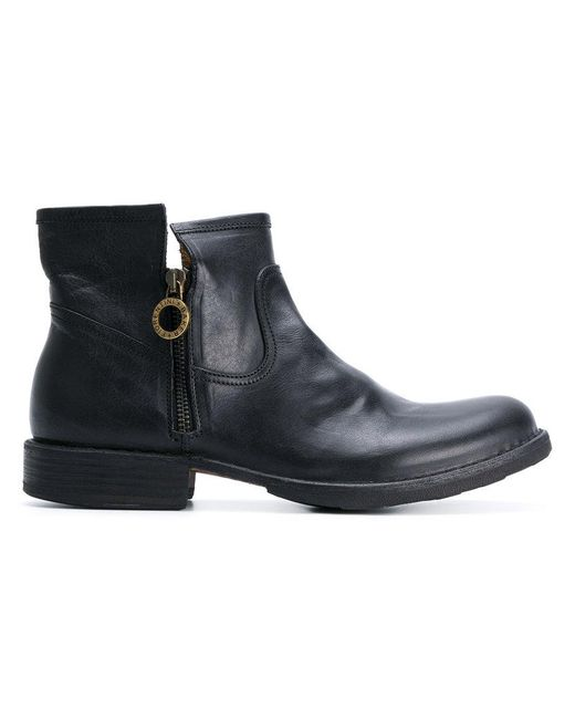 fiorentini baker low ankle boots in black lyst. Black Bedroom Furniture Sets. Home Design Ideas