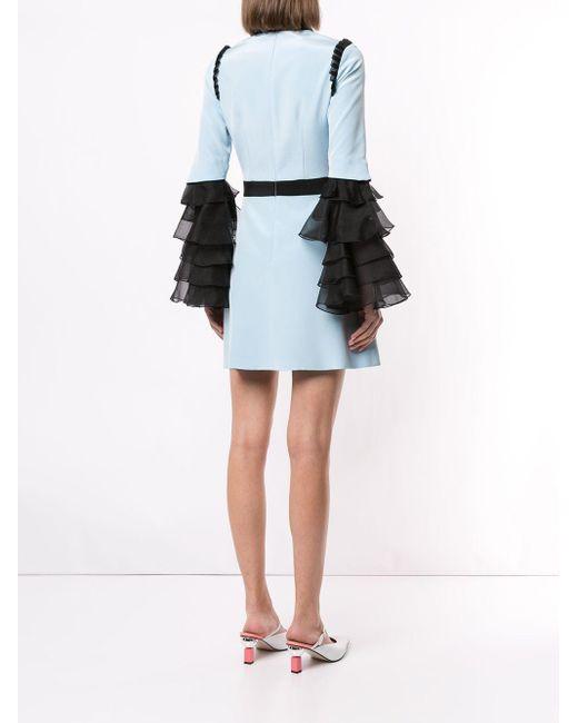 Macgraw Sincerity バイカラー ドレス Blue