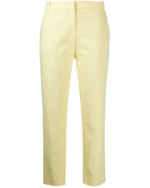 Укороченные Брюки Кроя Слим Pinko, цвет: Yellow