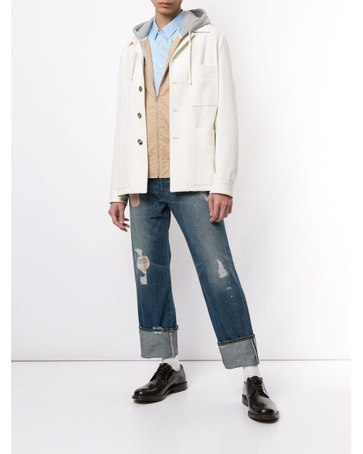 メンズ Junya Watanabe パネル フーデッド ジャケット Multicolor