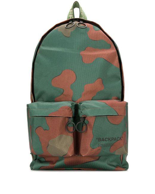 Камуфляжный Рюкзак Off-White c/o Virgil Abloh для него, цвет: Green
