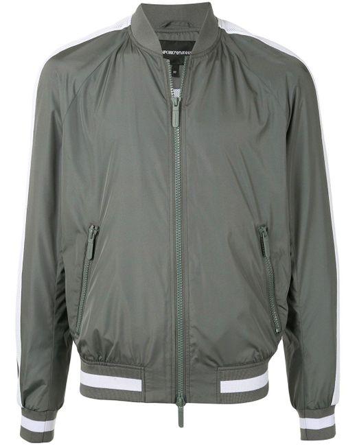 メンズ Emporio Armani ボンバージャケット Gray