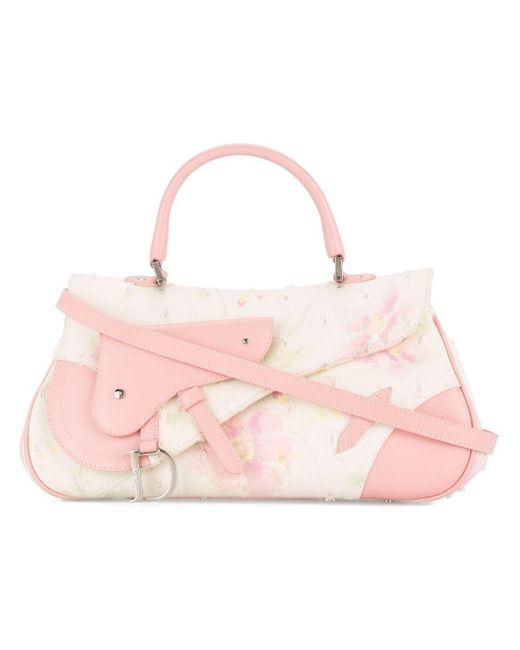 Dior フローラル ハンドバッグ Pink