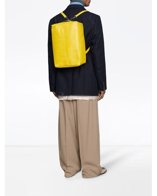 Gucci Rucksack im Box-Design in Yellow für Herren