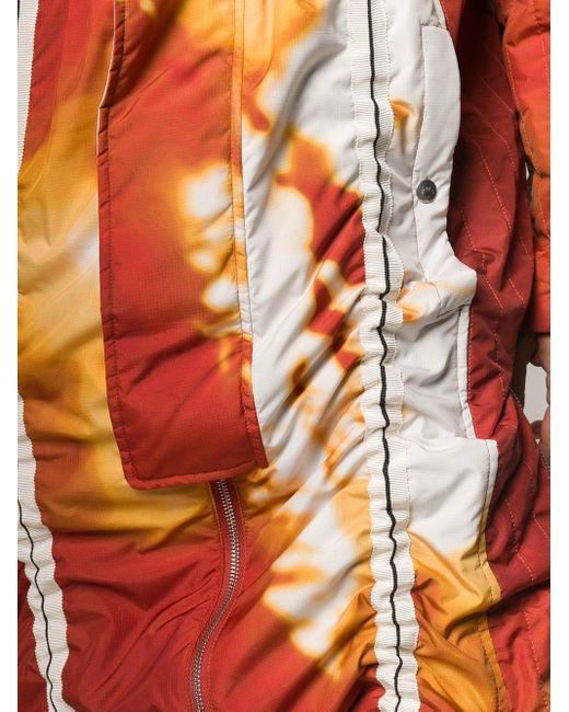 メンズ A_COLD_WALL* Volcanic パデッド パーカーコート Orange