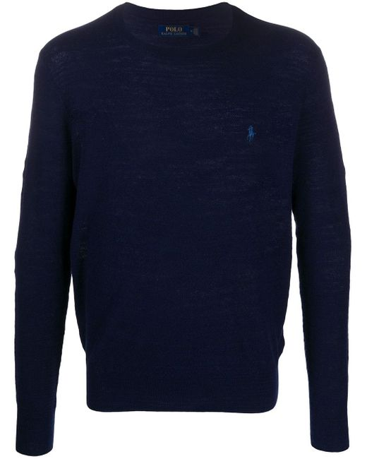 メンズ Polo Ralph Lauren ロゴ セーター Blue