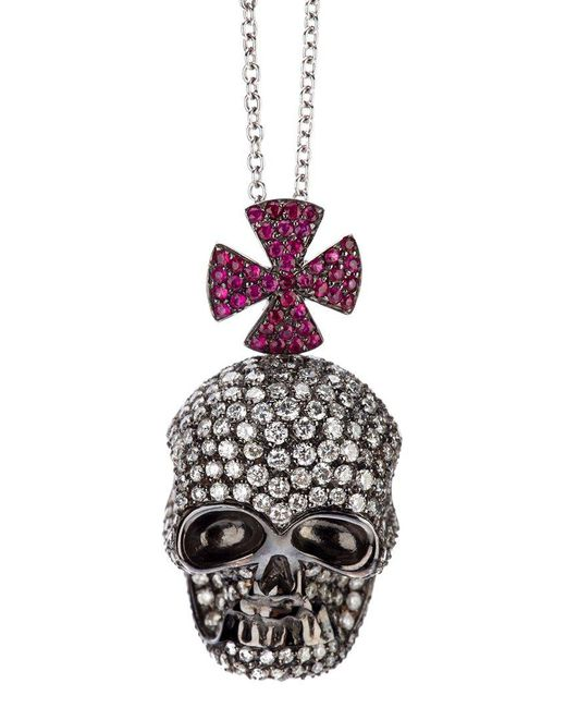 Gavello | Purple Skull Pendant Necklace | Lyst