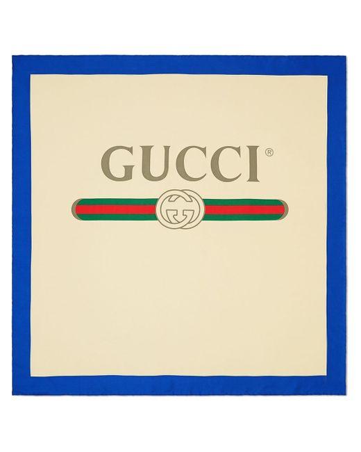 Gucci グッチ プリント スカーフ Multicolor