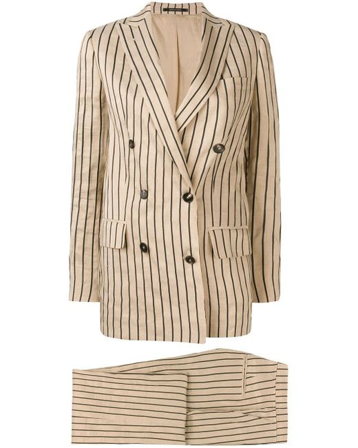 Tagliatore Natural Striped Two-piece Formal Suit