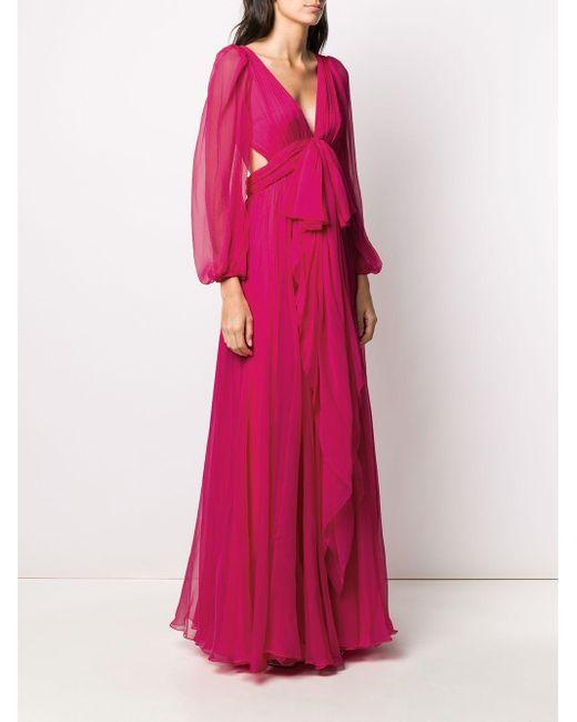 Alexander McQueen リボン イブニングドレス Pink