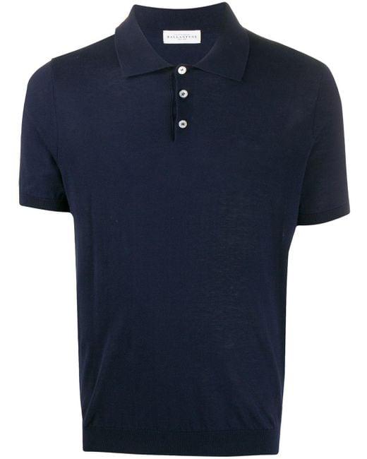 メンズ Ballantyne スリムフィット ポロシャツ Blue
