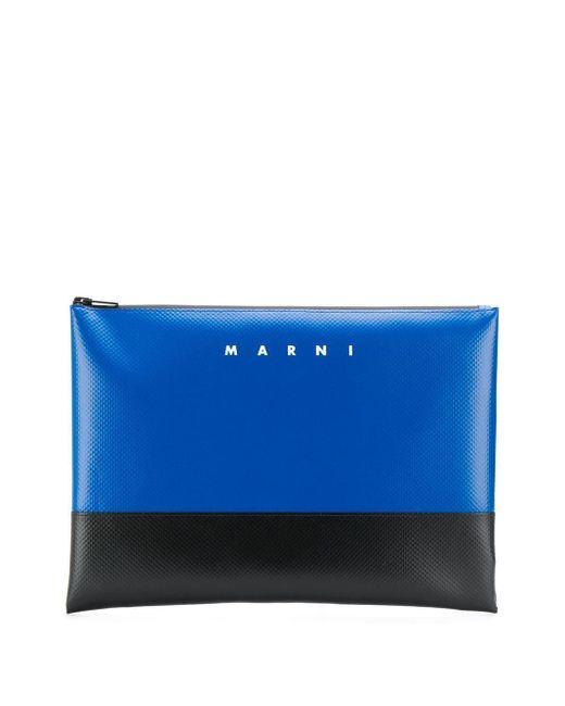 Pochette bicolore à logo imprimé Marni pour homme en coloris Blue