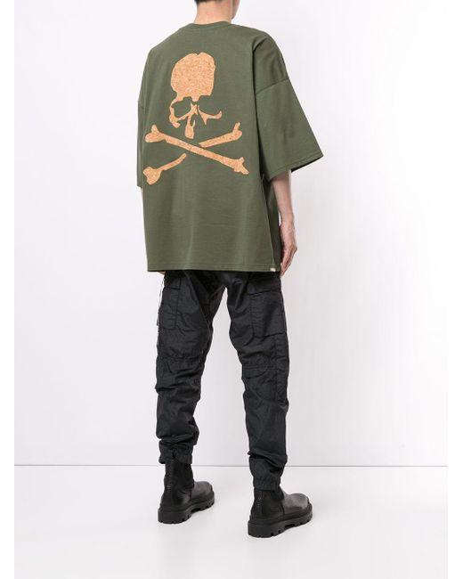 メンズ MASTERMIND WORLD スカル Tシャツ Green