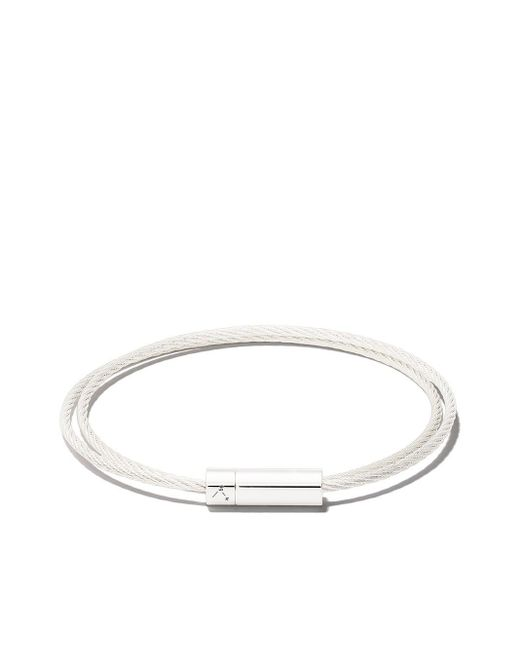 Le Gramme Le 9 Grammes Double Cable ブレスレット Metallic