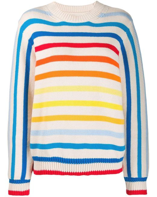 Chinti & Parker レインボー セーター Blue