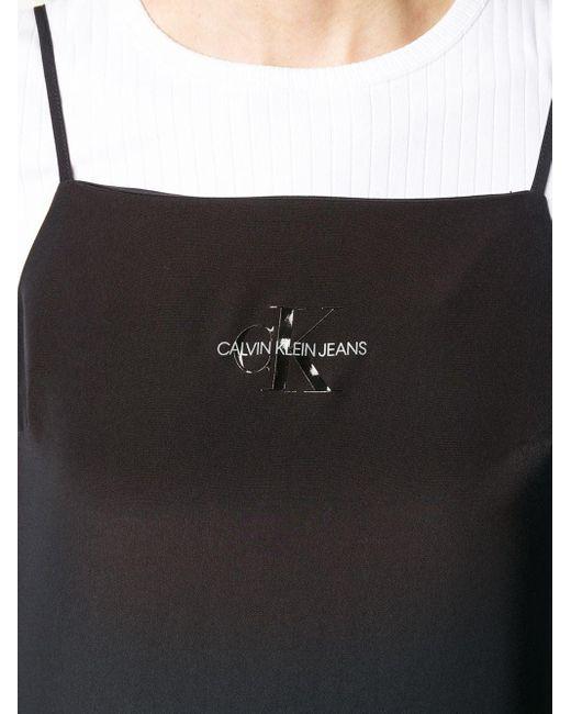 Calvin Klein ロゴ ミニドレス Black
