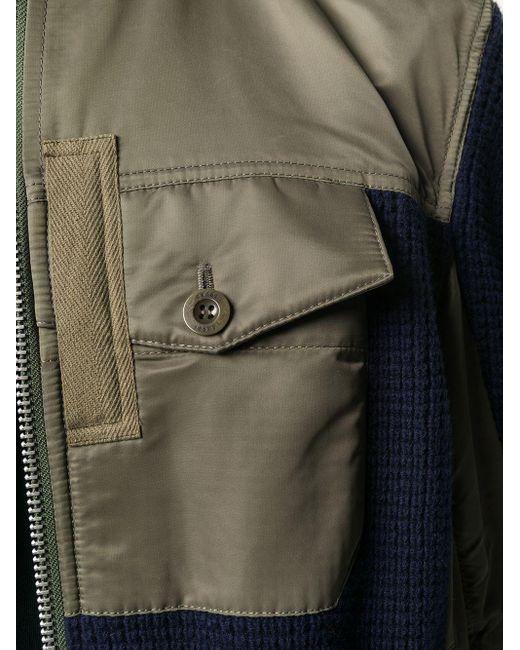 メンズ Sacai コントラストパネル ジャケット Blue