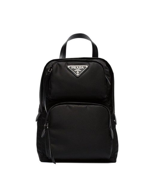 Prada - Black One-shoulder Nylon Backpack - Lyst