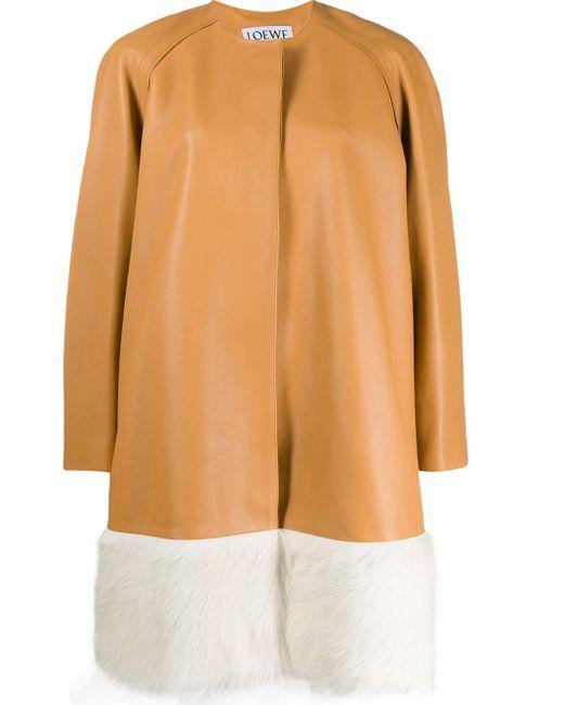 Loewe ファートリム コート Multicolor