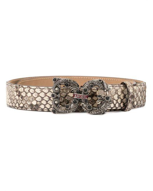 Dolce & Gabbana スネークパターン ベルト Multicolor