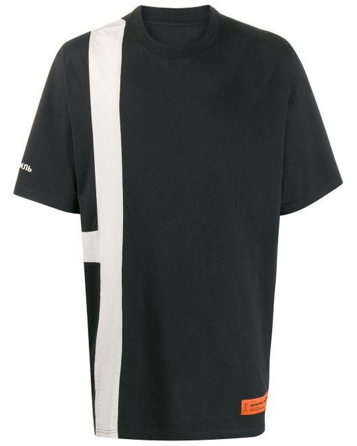 メンズ Heron Preston オーバーサイズ Tシャツ Black