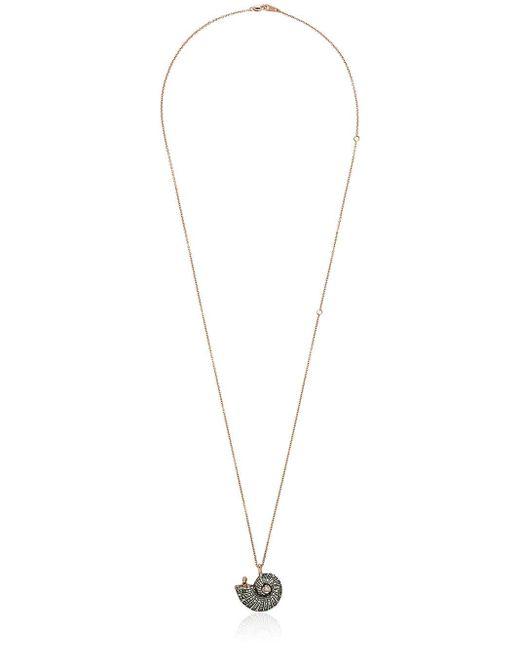 Bibi Van Der Velden ダイヤモンド&サファイア ペンダントネックレス 18kローズゴールド Metallic