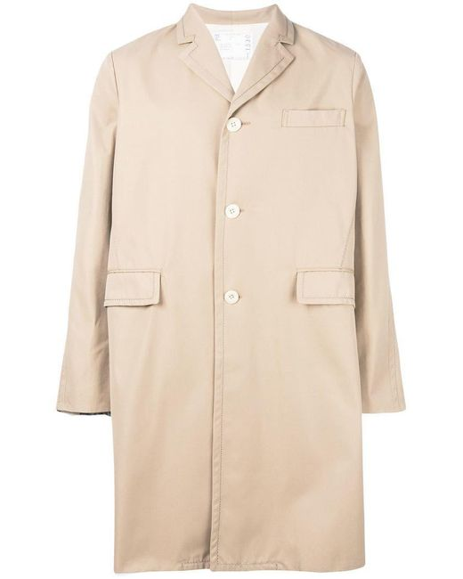 Sacai - Natural Oversized Trench Coat for Men - Lyst
