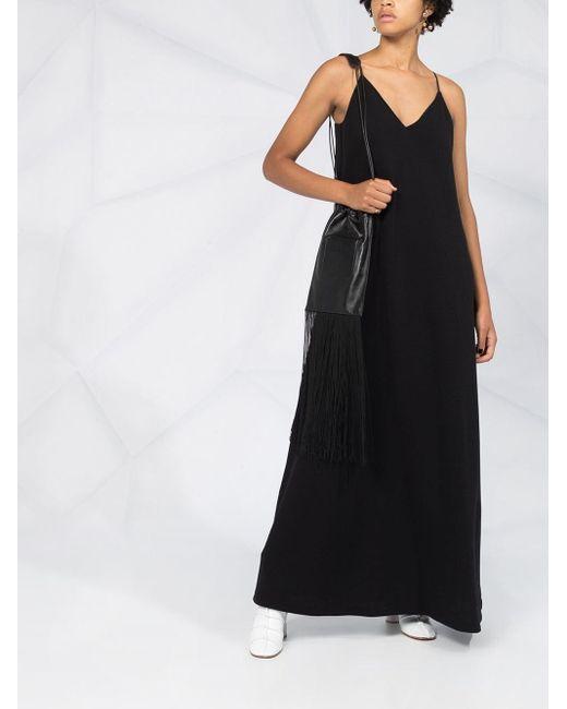Jil Sander ノースリーブ Vネックドレス Black