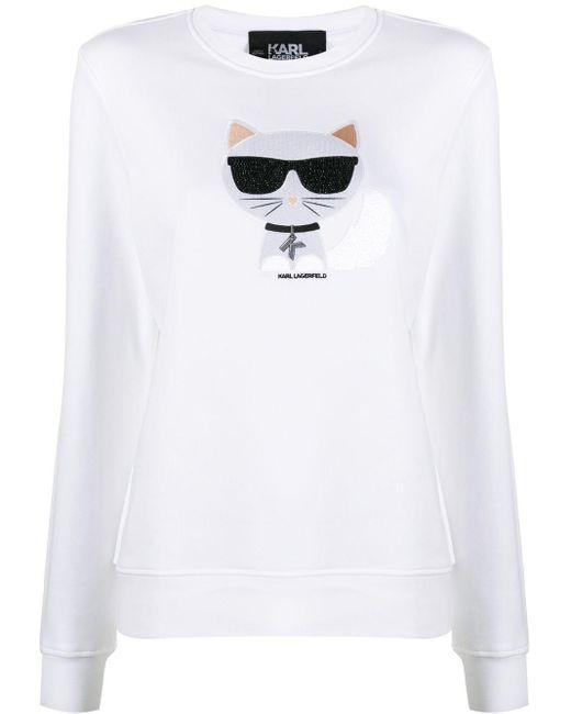 Толстовка Ikonik Choupette Karl Lagerfeld, цвет: White