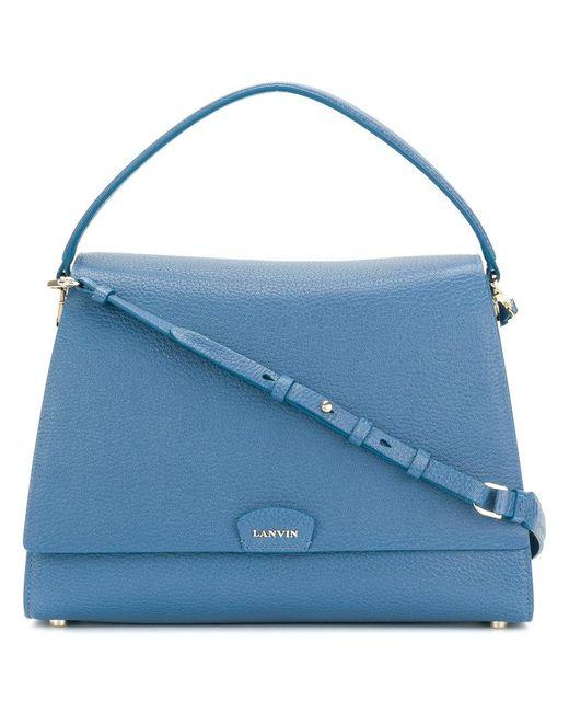 Lanvin - Blue Logo Shoulder Bag - Lyst