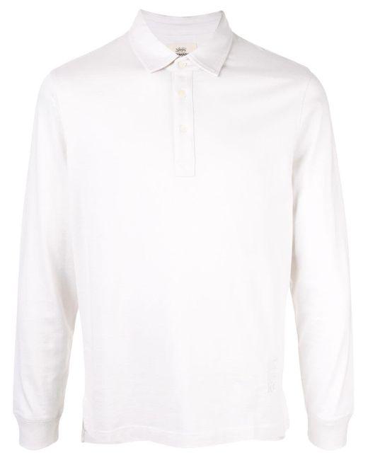 メンズ Kent & Curwen ロングスリーブ ポロシャツ White