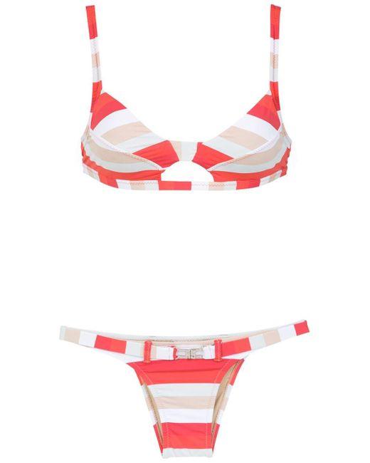Striped Bikinis Amir Slama, цвет: Red