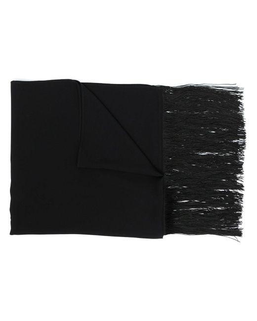 Sciarpa con frange di P.A.R.O.S.H. in Black