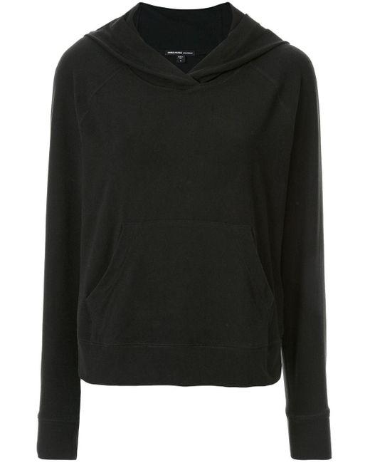 Sweat à capuche classique James Perse en coloris Black