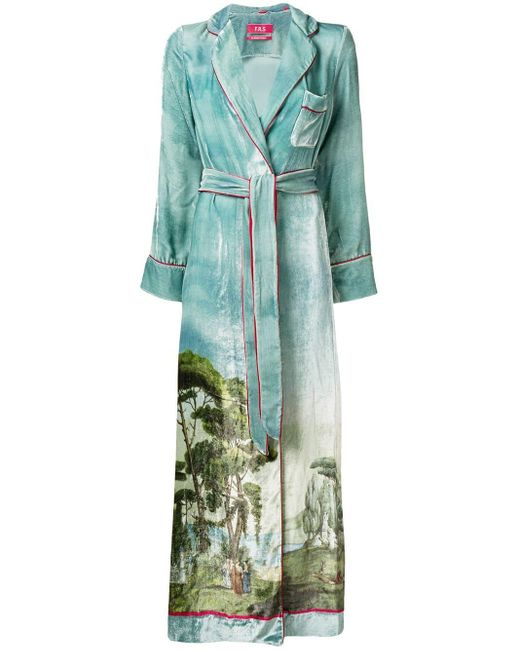 F.R.S For Restless Sleepers Roda Printed Robe Blue