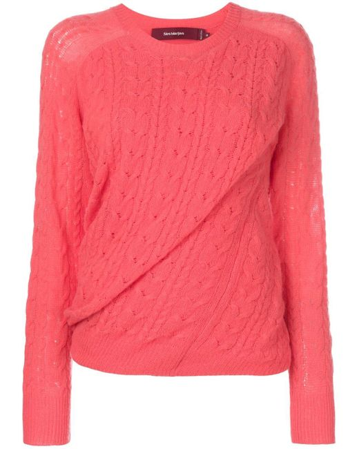 Sies Marjan ツイスト セーター Pink