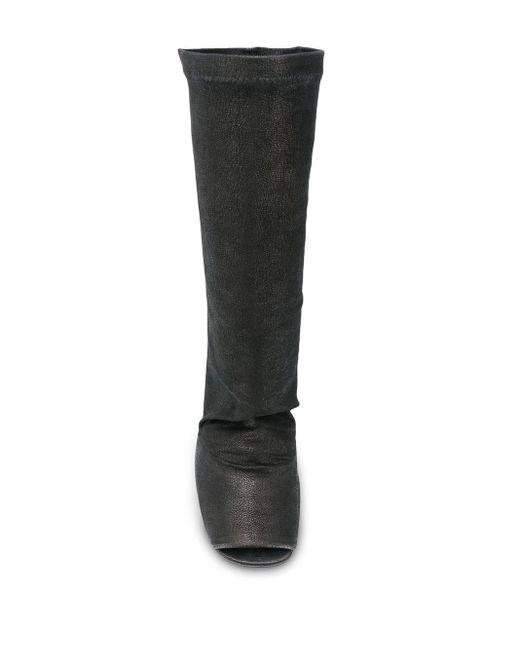 Ботильоны С Открытым Носком На Танкетке Rick Owens, цвет: Black