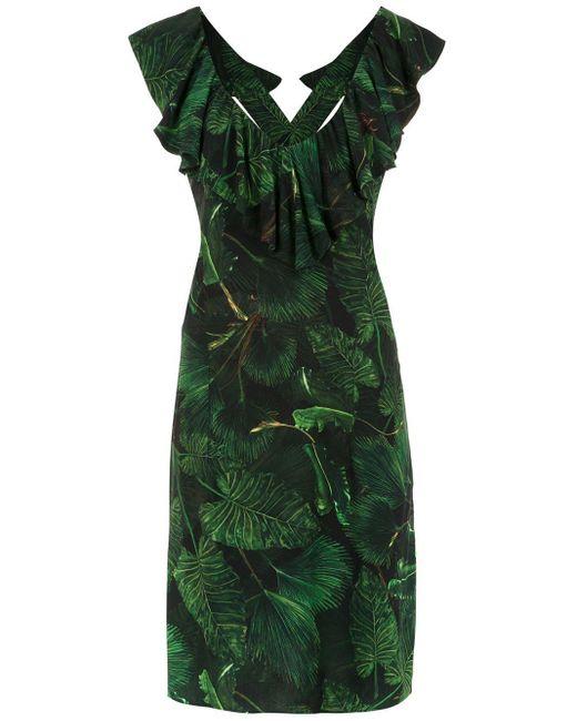 Vestido estampado Maite Isolda de color Green
