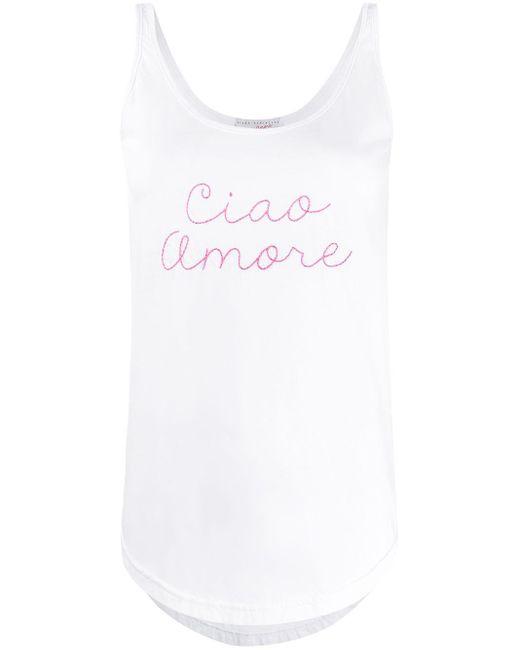 Giada Benincasa Ciao Amore タンクトップ White