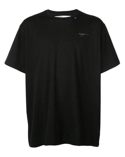 T-shirt à logo imprimé Off-White c/o Virgil Abloh pour homme en coloris Black