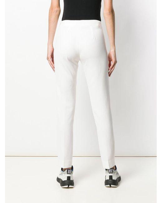 Pantalon slim classique P.A.R.O.S.H. en coloris White