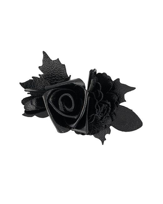 Брошь В Виде Розы Philosophy Di Lorenzo Serafini, цвет: Black