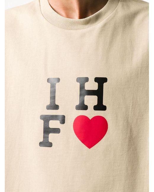 メンズ Sunnei ハートプリント Tシャツ Natural