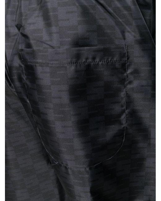 メンズ SSS World Corp ロゴ トラックパンツ Black