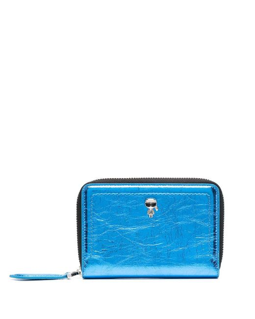 Кошелек На Молнии Karl Lagerfeld, цвет: Blue