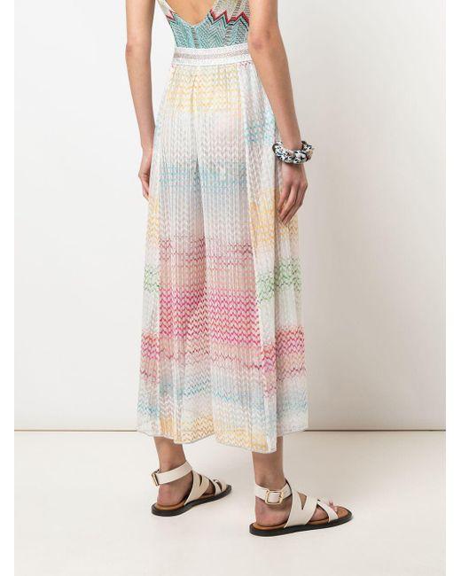Pantalon ample à effet de transparence Missoni en coloris White