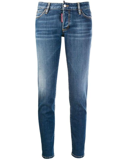 DSquared² Blue Low-rise Skinny Jeans