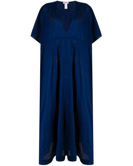 Eres サテン カフタン ドレス Blue