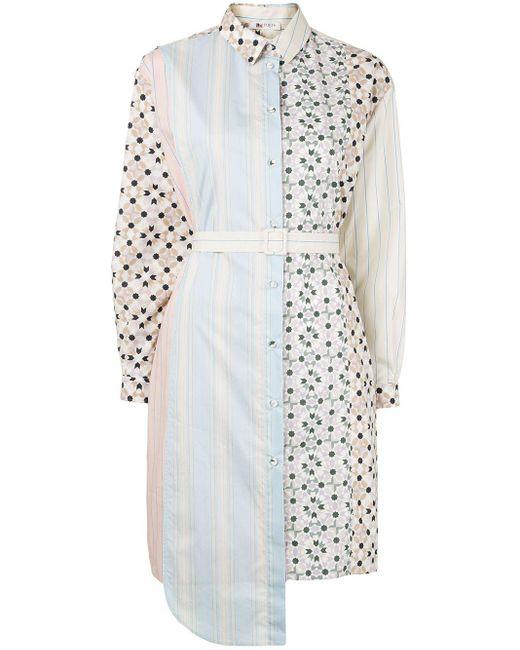 Ports 1961 プリント シャツドレス White