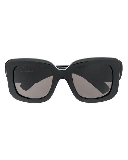 Balenciaga Bb スクエアフレーム サングラス Black